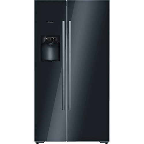 Bosch serie 8 - Frigorifico americano kad92sb30 puerta negro clase de eficiencia energetica a++