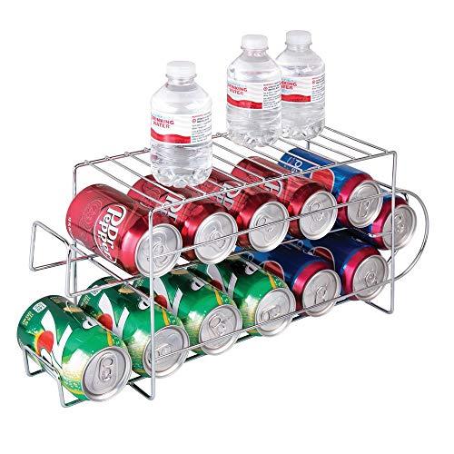 mDesign Organizador de frigorífico para alimentos – Moderno y estable organizador de cocina para...